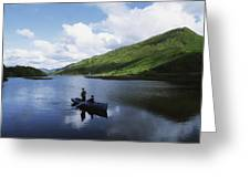Kylemore Lake, Co Galway, Ireland Greeting Card by The Irish Image Collection