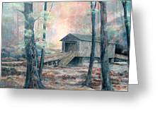 Kymulga Covered Bridge Greeting Card by Gary Partin