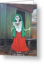 La Dama Greeting Card by Sonia Flores Ruiz
