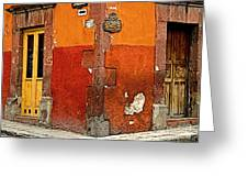 La Esquina 2 Greeting Card by Olden Mexico