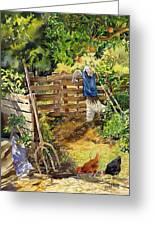 La Huerta Greeting Card by Margaret Merry