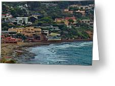 La Jolla Shores Lifestyle Greeting Card by Russ Harris