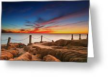 La Jolla Sunset 3 Greeting Card by Larry Marshall