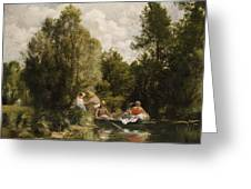 La Mare Aux Fees Greeting Card by Pierre Auguste Renoir