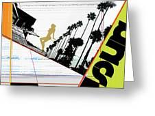 LA Greeting Card by Naxart Studio