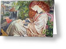 La Pia De Tolomei Greeting Card by Dante Charles Gabriel Rossetti