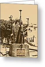 La Rogativa Sculpture Old San Juan Puerto Rico Rustic Greeting Card by Shawn O'Brien