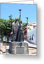 La Rogativa Sculpture Old San Juan Puerto Rico Greeting Card by Shawn O'Brien