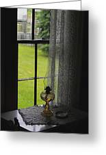 Lace Curtains Greeting Card by Scott Hovind