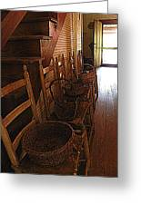 Ladder Backs And Baskets I Greeting Card by Sheri McLeroy