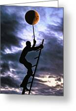 Ladder To The Moon Greeting Card by Joachim G Pinkawa