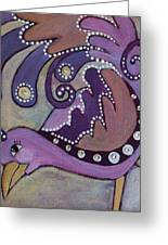 Lady In Lavender Greeting Card by Suzanne Drolet