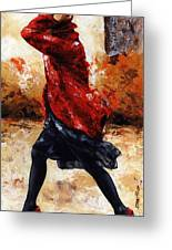 Lady In Red 28 Greeting Card by Emerico Imre Toth