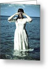 Lady In Water Greeting Card by Joana Kruse