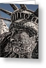 Lady Liberty Greeting Card by Danuta Bennett