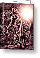 Lady Of The Night Greeting Card by Tisha McGee