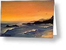 Laguna Sunset Greeting Card by Barbara Gilroy