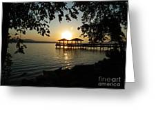 Lake Dardanelle Greeting Card by Tammy Chesney