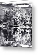 Lake Drama Greeting Card by John Rizzuto