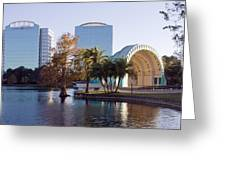 Lake Eola's  Classical Revival Amphitheater Greeting Card by Lynn Palmer