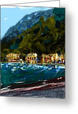 Lake Houses Greeting Card by Russell Pierce