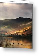Lake In Cumbria, England Greeting Card by John Short