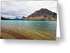 Lake In The Canadian Rockies Greeting Card by George Oze