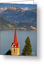 Lake Lucerne Greeting Card by Brian Jannsen