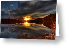 Lake Of The Woods Sunset I Greeting Card by Megan Noble