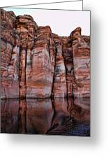 Lake Powell Water Canyon Greeting Card by Jon Berghoff