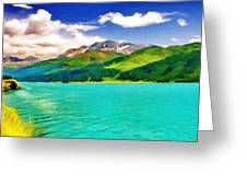Lake Sils Greeting Card by Jeff Kolker
