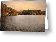 Lakeside Morning Greeting Card by Jai Johnson