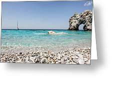 Lalaria Beach Skiathos Island Greeting Card by Nick Karvounis