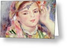 L'Algerienne Greeting Card by Pierre Auguste Renoir