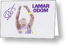 Lamar Odom Greeting Card by Toni Jaso