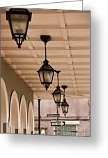 Lamps Greeting Card by Leslie Leda