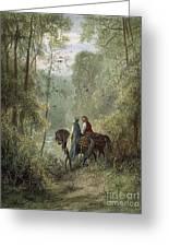 Lancelot & Guinevere Greeting Card by Granger