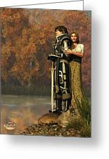 Lancelot And Guinevere Greeting Card by Daniel Eskridge