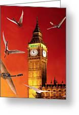 Landing In London Rocks Greeting Card by Eric Kempson