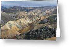 Landmannalaugar Panorama 1 Greeting Card by Rudi Prott