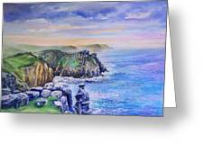 Land's End Vista Greeting Card by Merv Scoble