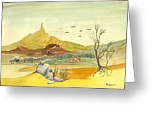 Landscape 4 Greeting Card by Padamvir Singh