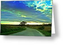 Landscape Mauvezin Greeting Card by Sandrine Pelissier