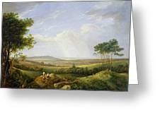 Landscape With Figures  Greeting Card by Captain Thomas Hastings