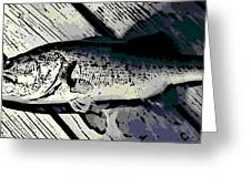 Largemouth Bass Greeting Card by George Pedro