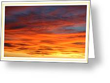 Las Cruces Sunset Greeting Card by Jack Pumphrey