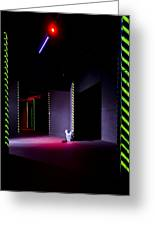 Laser Game Playing Space With Narrow Greeting Card by Corepics