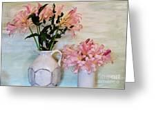 Last Of My Lilies Greeting Card by Marsha Heiken