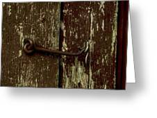 latch Greeting Card by The Stone Age