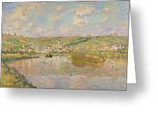 Late Afternoon - Vetheuil Greeting Card by Claude Monet